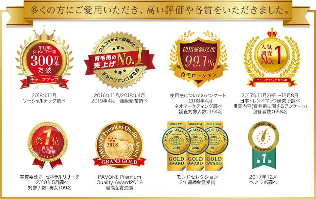 数々の賞の画像